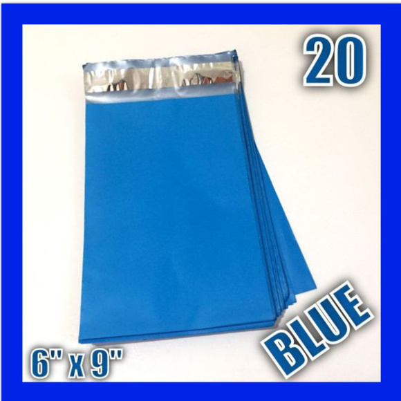 """Other - (20) 6"""" x 9"""" BLUE Poly Mailers Self Sealing Design"""